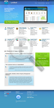 123Landlord.com Professional Plan preview. Click for more details