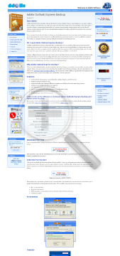 Adolix Outlook Express Backup Full Version preview. Click for more details