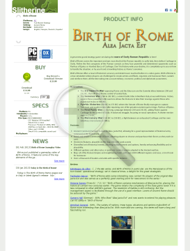 Birth of Rome PC Physical with Free Download preview. Click for more details