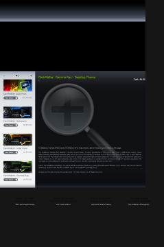 Darkmatter: Gamma Ray Win 7 Theme preview. Click for more details