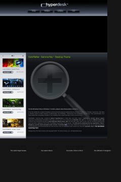 Darkmatter: Gamma Ray XP Theme preview. Click for more details