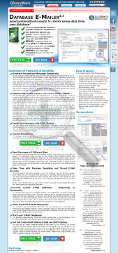 Database EMailer Business License preview. Click for more details
