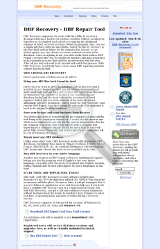 DBF Recovery Business license preview. Click for more details