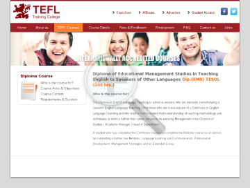 Diploma (EMS) TESOL  200 hr. Course preview. Click for more details