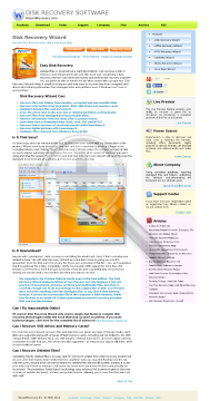 Disk Recovery Wizard Professional License preview. Click for more details