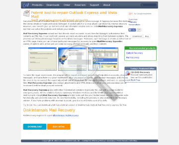 DiskInternals Mail Recovery Express Full Version preview. Click for more details