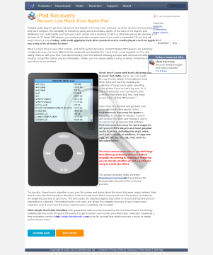 DiskInternals Recovery for Ipod Full Version preview. Click for more details