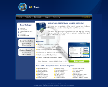 Driver Backuper Home License preview. Click for more details
