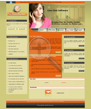 DRPU Web Chat Full Version preview. Click for more details