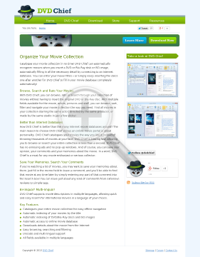 DVD Chief Family License (up to 5 computers) preview. Click for more details