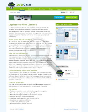 DVD Chief Single Computer License preview. Click for more details