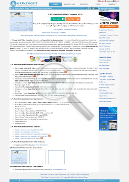 E.M. PowerPoint Video Converter Upgrade Pro to HD preview. Click for more details