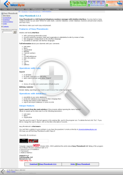 Easy Phonebook 2.2.1 preview. Click for more details