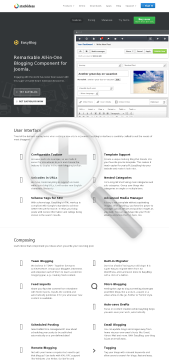 EasyBlog Pro Professional Edition preview. Click for more details