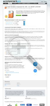 Email Validator for .NET Standard Version, for 1 Company, No Source Code, 1 Year Subscription preview. Click for more details