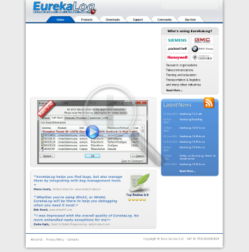 EurekaLog 7.x Professional Single License (with 1 year of free updates) preview. Click for more details