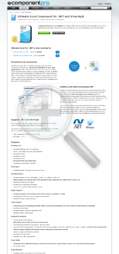 Excel Component for .NET Premium Version, for 1 Company, With Source Code, 1 Year Subscription preview. Click for more details