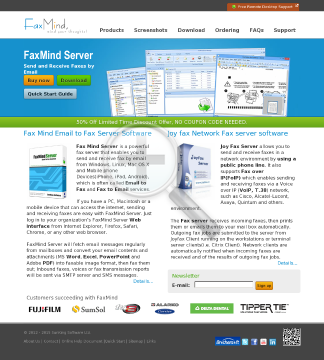 FaxMind server( includes: 5 Users, 4 Fax Lines, 1 Year Upgrade Protection) preview. Click for more details