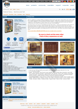 Field of Glory  Decline and Fall Promo Physical with Free Download preview. Click for more details