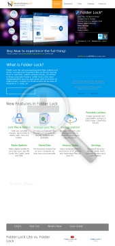 Folder Lock 7.x preview. Click for more details
