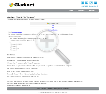 Gladinet CloudAFS Single Connection License (Free first month, US$4.99/Month afterwards. You can cancel anytime, no contract. ) preview. Click for more details