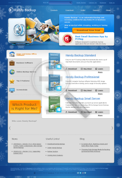 Handy Backup Professional Edition preview. Click for more details
