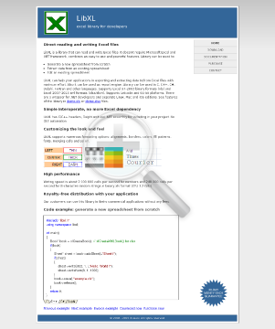 LibXL for Windows & Mac preview. Click for more details
