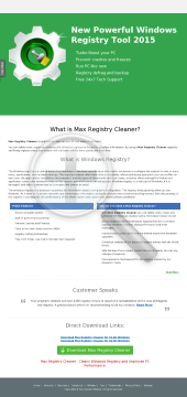 Max Registry Cleaner New preview. Click for more details