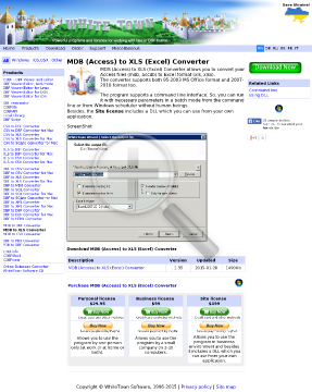 MDB (Access) to XLS (Excel) Converter Personal license preview. Click for more details