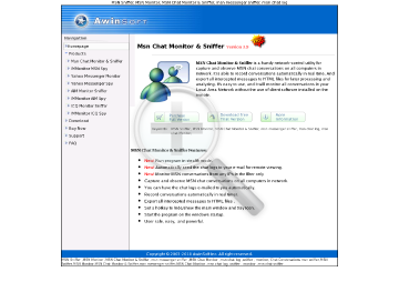 MSN Chat Monitor & Sniffer Full Version preview. Click for more details