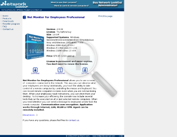 Network LookOut Administrator Professional MultiSite License preview. Click for more details