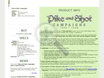 Pike and Shot  Campaigns PC Physical with Free Download preview. Click for more details