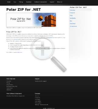 Polar ZIP for .NET 1 license preview. Click for more details