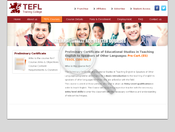 Preliminary Certificate (ES) TESOL 100 hr. Course preview. Click for more details