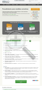 Procedimiento para medidas correctivas ES (standard version) preview. Click for more details