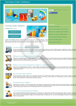 Purchase Order Software Full Version preview. Click for more details
