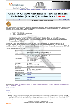 R: A+ Remote Support 220603 Practice Tests Full Version preview. Click for more details