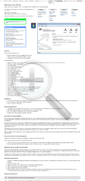 Recovery for Excel 6.0 Standard License preview. Click for more details