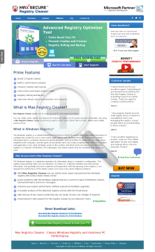 Registry Cleaner New Full Version preview. Click for more details