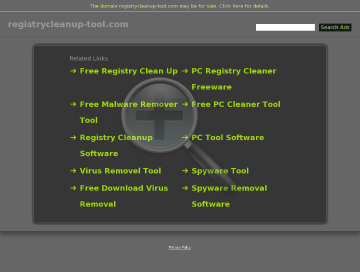 Registry Cleanup Full Version preview. Click for more details