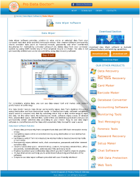 Secure Data Wiper Full Version preview. Click for more details