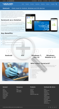 SureLock Android 100 License Pack preview. Click for more details