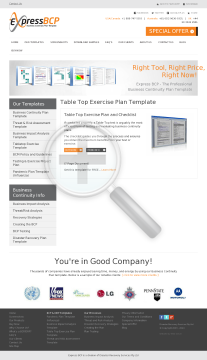 TableTop Exercise Template Full Version preview. Click for more details