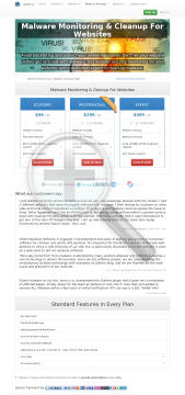ThreatSign!  Website AntiMalware security solution Expert account. Yearly plan  6 to 10 domains. (499USD/ yr.) preview. Click for more details