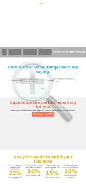 WiseStamp Web WiseIntro preview. Click for more details
