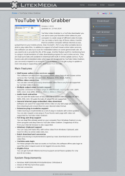 YouTube Video Grabber Full Version preview. Click for more details