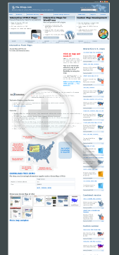 Zoom Map of USA  Single license preview. Click for more details